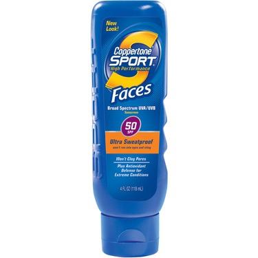 Coppertone Sport Faces Sunscreen Lotion SPF 50