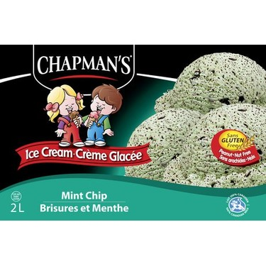 Chapman's Mint Chip Ice Cream
