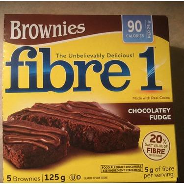 Fibre 1 110 Calorie Chocolate Fudge Brownies