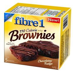 Fibre 1 110 Calorie Chocolate Fudge Brownies