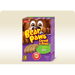 Bear Paws Cereal and Fruit Bars - Apple