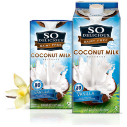 So Delicious coconut milk with vanilla