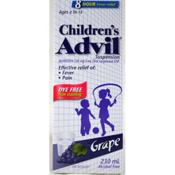 Children's Advil Suspension Grape