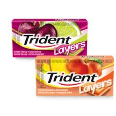 Trident Layer's Gum/Sweet Cherry & Island Lime