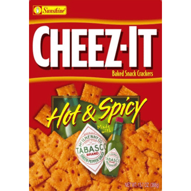 Cheez-It Baked Snack Cracker Hot & Spicy