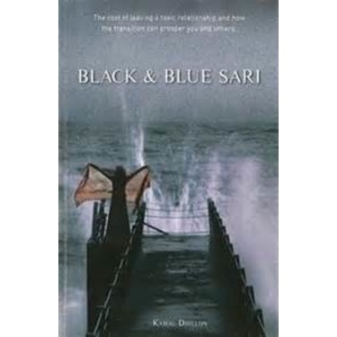 Black and Blue Sari