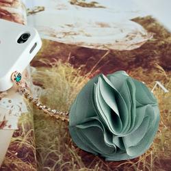 Chiffon Flower Iphone Dust Charm