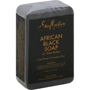 Shea Moisture African Black Soap Shea Butter Wash for Acne Prone & Troubled Skinn