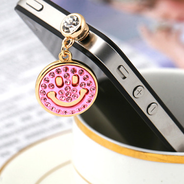 Happy Face 3.5mm Earphone Anti Dust Plug Charm