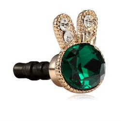 Emerald Rabbit Bunny 3.5mm Earphone Anti-Dust Plug