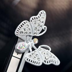 White Butterfly 3.5mm Headphone Jack Plug Charm