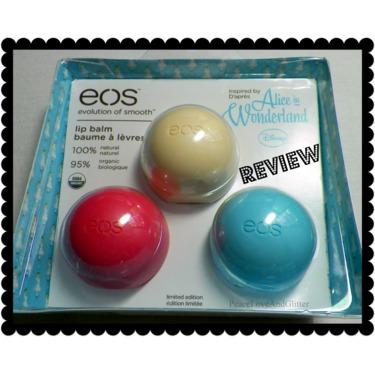 eos Organic Smooth Spheres Lip Balm Alice in Wonderland Trio