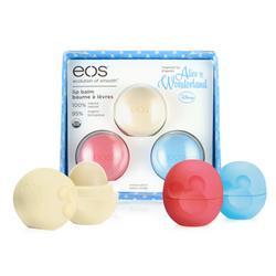 eos Organic Sphere Lip Balm Alice in Wonderland Trio