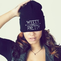 Bittersweet Apparel Witty and Pretty Beanie