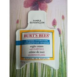 Burt's Bees Intense Hydration Night Cream with Clary Sage