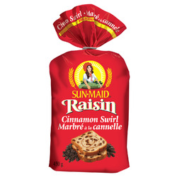 Sunmaid cinnamon swirl raisin bread