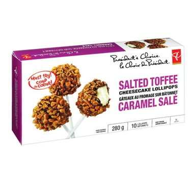 PC Salted Toffee Cheesecake Lollipops