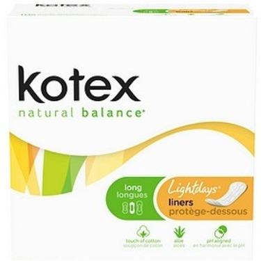 Kotex Natural Balance Pantiliners-Unscented