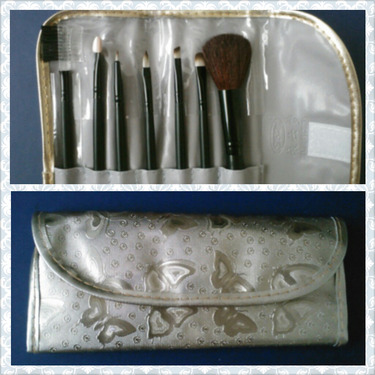 BORN PRETTY STORE, 7 pc Makeup Brushes Set With Golden Butterfly Case