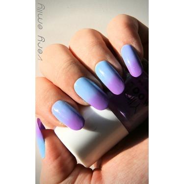Born Pretty Store  Magic Purple/Sky Blue Color Changing Mood Nail Polish
