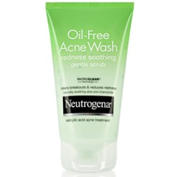Neutrogena Oil Free Acne Wash redness soothing gentle scrub