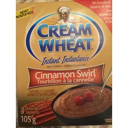 Cream of Wheat Cinnamon Swirl