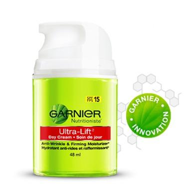 Garnier Nutritioniste Ultra Lift Day Cream Anti-Wrinkle & Firming Moisturizer SPF 15 (48mL)