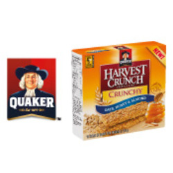 Quaker Harvest Crunch Granola Bars - Oats, Honey and Almond