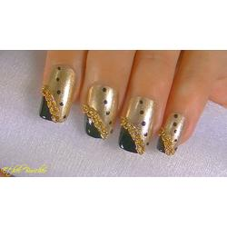 Punk Style Metal Chain Line Acrylic UV Gel Nail Art Decoration