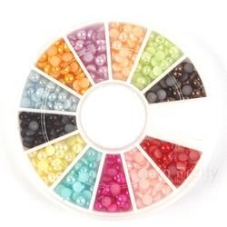 BornPrettyStore Shimmer Colorful Half Pearls
