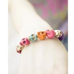Candy Colors Skull Elastic Bracelet