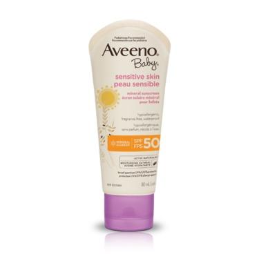 Aveeno Baby Sensitive Skin Mineral Sunscreen SPF 50