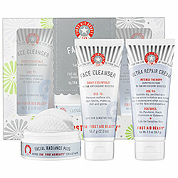 First Aid Beauty Fab Faves (Face Cleanser, Ultra Repair Cream, Facial Radiance Pads)