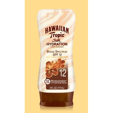 Hawaiian Tropic Silk Hydration Lotion Sunscreen SPF 12