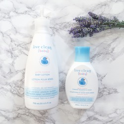Live Clean Baby Shampoo and Wash