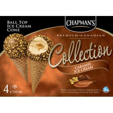 CHAPMAN'S BALL TOP ICE CREAM CONES IN CARAMEL