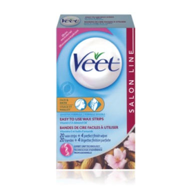 Veet Easy To Use Wax Strips Face And Bikini Sensitive Formula