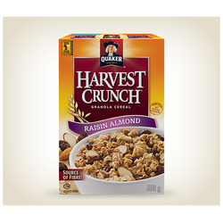 Quaker Harvest Crunch Cereal - Raisin Almond