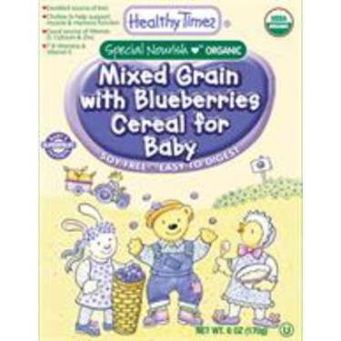 Healthy Times Mixed Grain with Blueberries Cereal for Baby