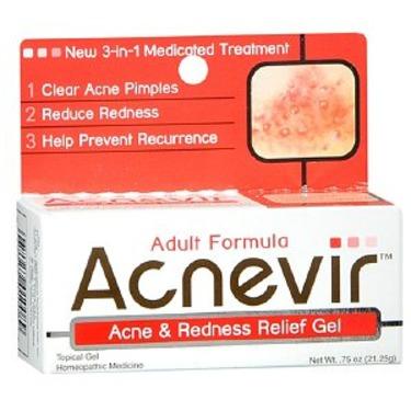Acnevir Adult Formula Acne & Redness Relief Gel