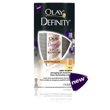 Olay Definity Color Recapture Anti-Aging UV Moisturizer Sheer Illuminating Coverage