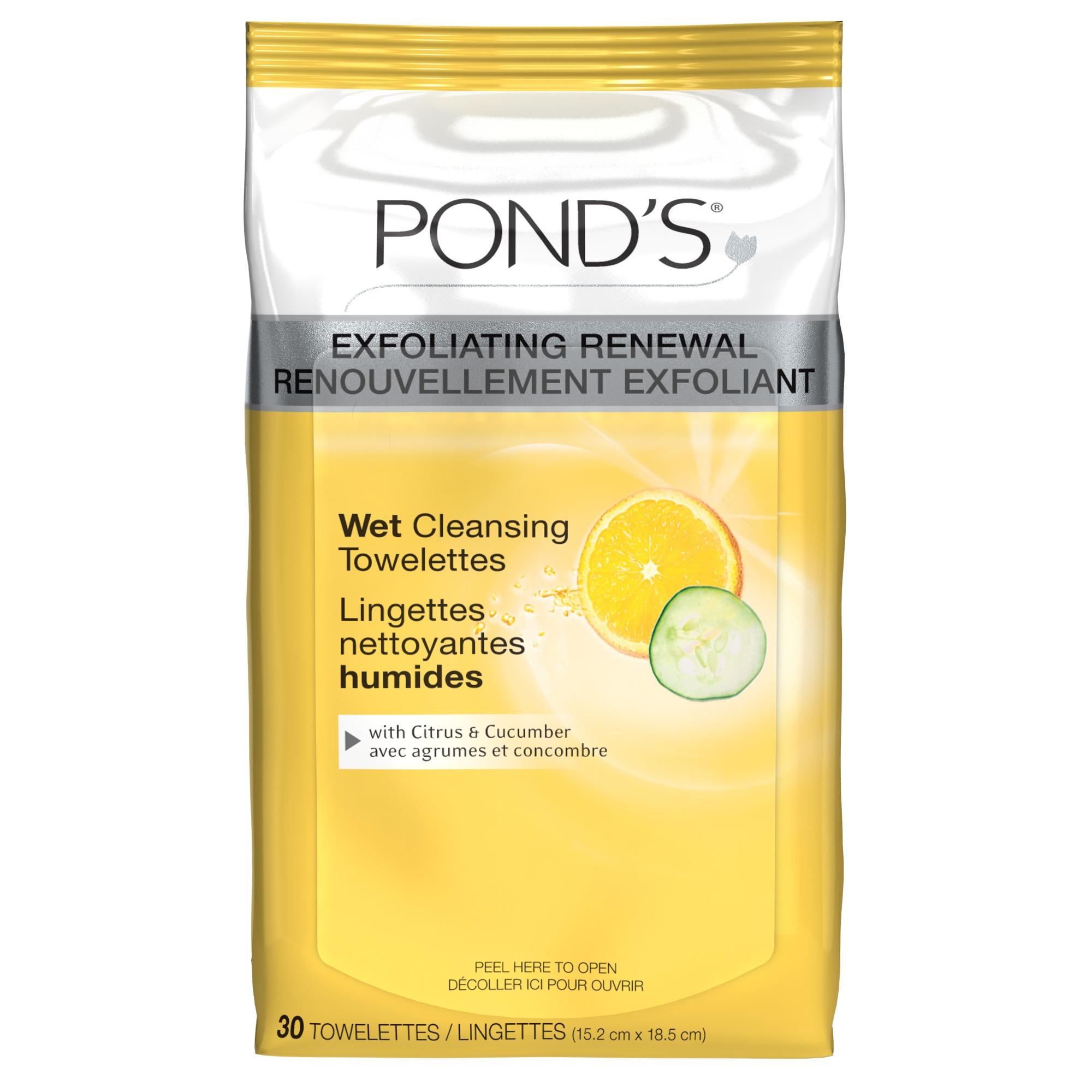 Ponds exfoliating facial wipes