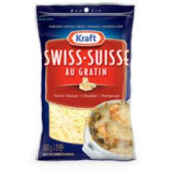 Kraft Swiss Au Gratin Shredded Cheese