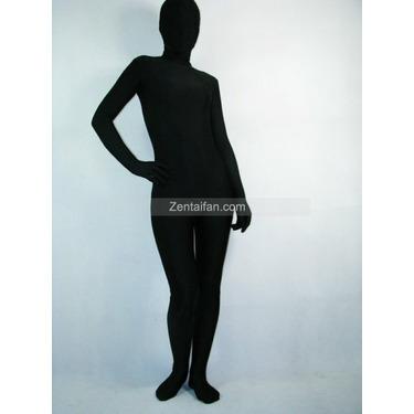 Full Body Black Lycra Spandex Zentai Suit