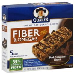 Quaker Fibre & Omega 3 Granola Bars
