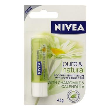 NIVEA Pure & Natural Chamomile & Calendula Lip Balm