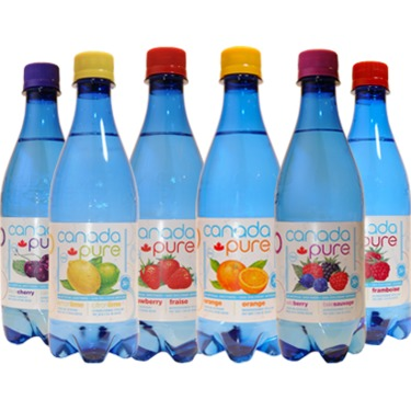 Canada Pure sparkling fruit flavoured water