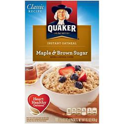 Quaker Oatmeal Maple and Brown Sugar