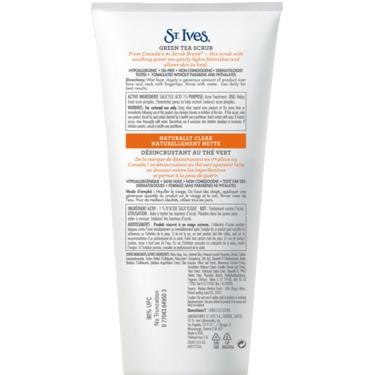 St. Ives Naturally Clear Green Tea Scrub Facial Cleanser