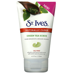 St. Ives Naturally Clear Green Tea Scrub Facial Cleanser
